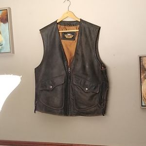 Other - XL Harley Davidson  Vintage Leather Vest